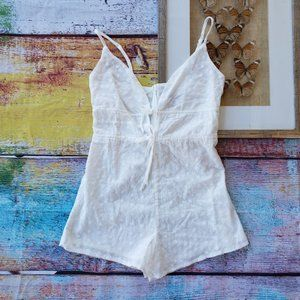 Princess Polly White Embroidered Playsuit Romper 2